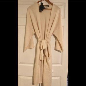 Zara Knit 100% Cashmere Long Sweater Coat
